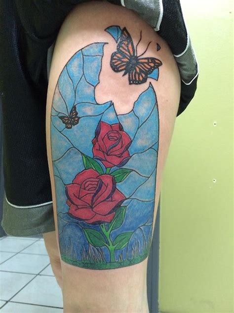 stained glass rose tattoo stained glass www pixshark images