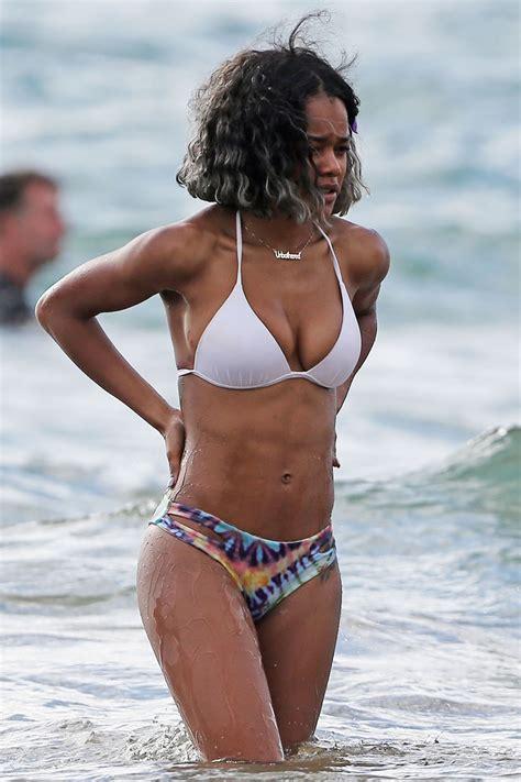 lori harvey iman shumpert teyana taylor bikini 2014 08 gotceleb