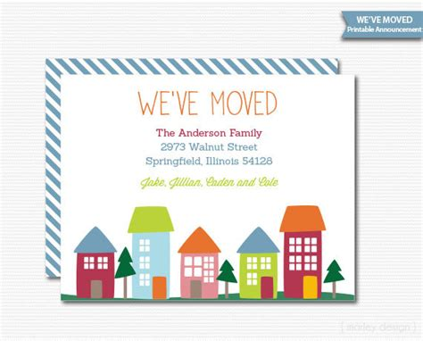 printable new house card new home invitation new home announcement we ve moved