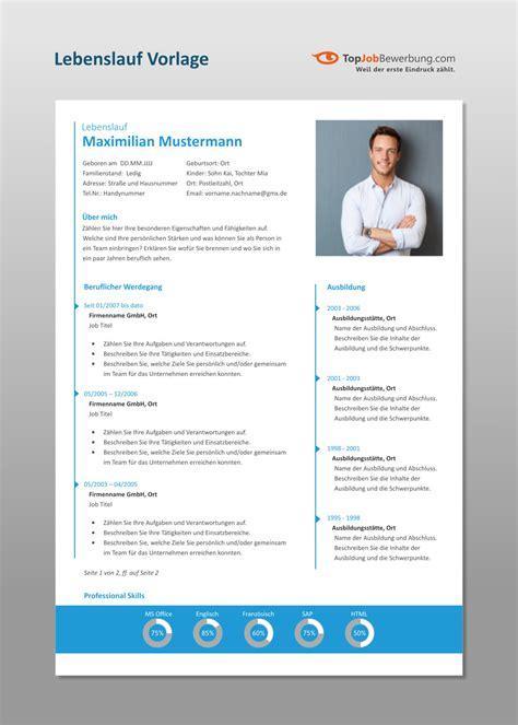 Vorlage Professioneller Lebenslauf by Professioneller Lebenslauf F 252 R Erfolgreiche Bewerber Innen