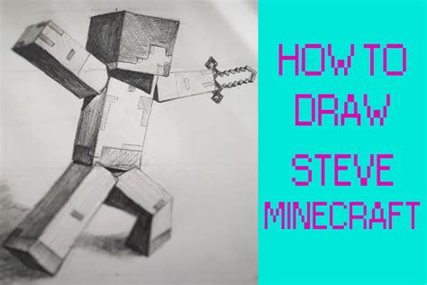 How To Make A Minecraft Steve Out Of Paper - how to draw steve from minecraft with minecraft sword