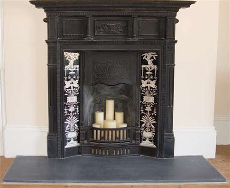 Black And White Fireplace Tiles fireplace black and white urn design on tiles