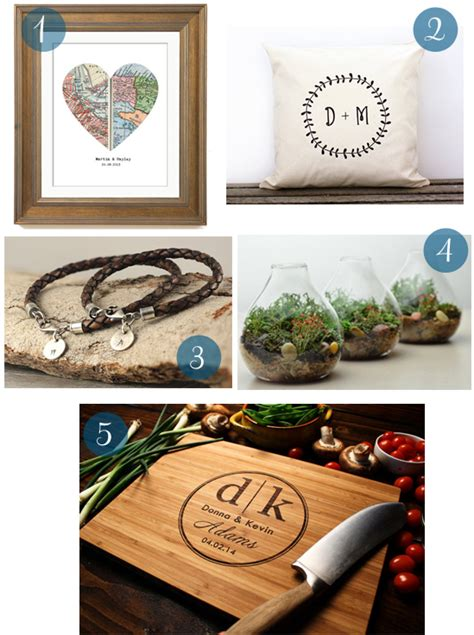 Wedding Anniversary Gift Guide by The Five Years Wedding Anniversary Gift Guide
