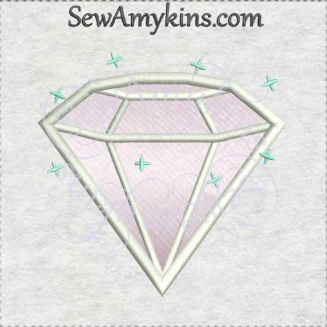 embroidery design diamond sparkle diamond jewel gem sparkly applique embroidery