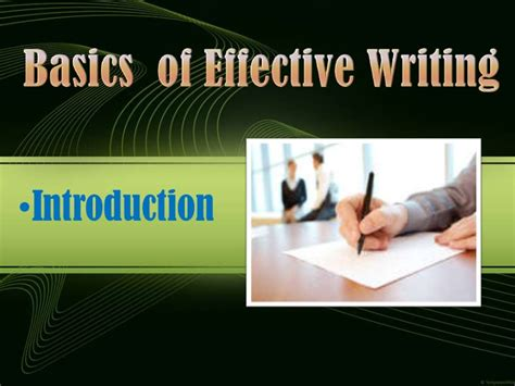Purpose Of Business Letter Ppt ppt of quot basics of effective writing quot quot business letter