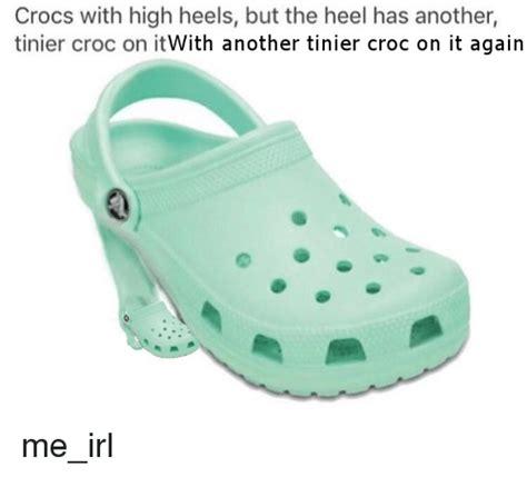 high heeled crocs high heel crocs black 28 images search croc memes on