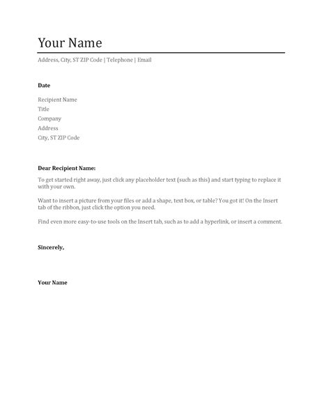 Cv Cover Letter Microsoft Office Cover Letter Templates