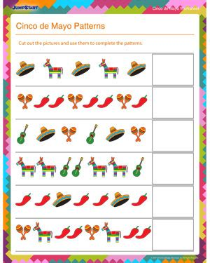 pattern math games for first grade cinco de mayo patterns free math worksheet for kids