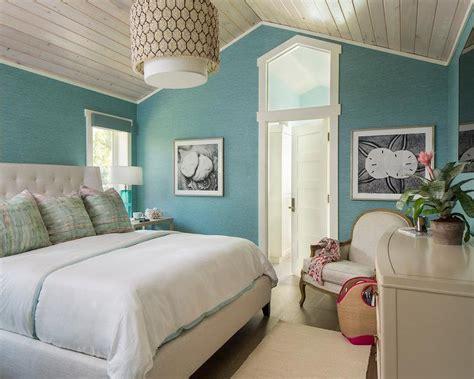 pink  blue bedroom  gray nightstands contemporary bedroom