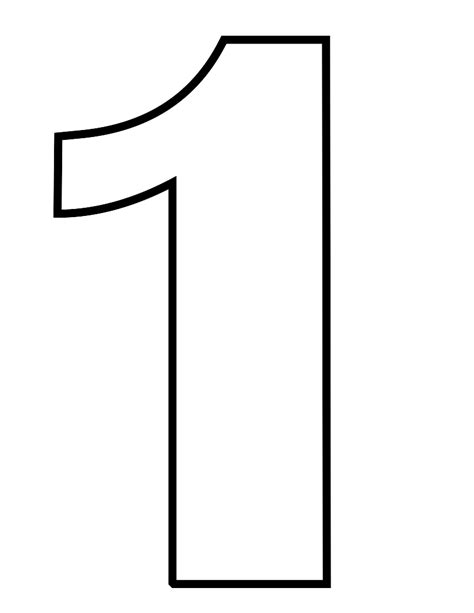 coloring pages for the number 1 numbers 1 5 coloring page
