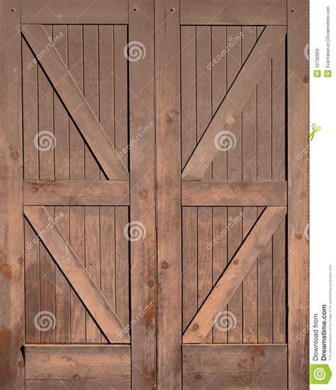 wooden barn doors wooden barn doors stock photo image 42792809