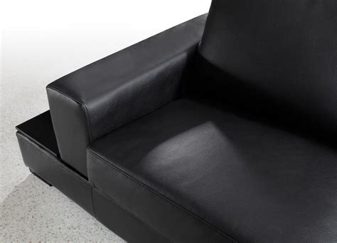 U Shaped Leather Sofa by Ritz Modern Black Leather Quot U Quot Shaped Sectional Sofa