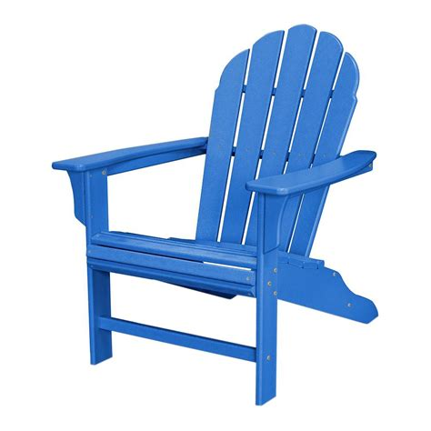 Blue Patio Chairs Trex Outdoor Furniture Hd Pacific Blue Patio Adirondack Chair Txwa16pb The Home Depot