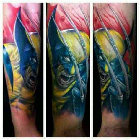superhero tattoo sleeve wolverine by bili vegas ink half sleeve