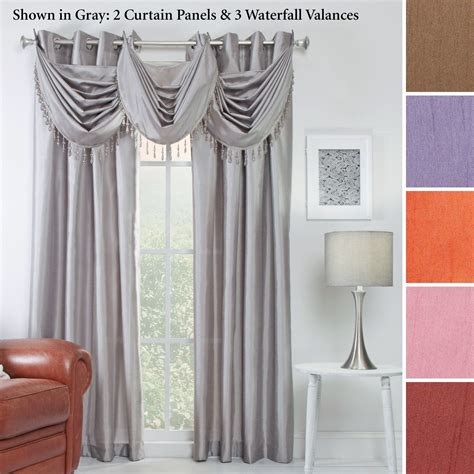 Silk Window Treatments Chelsea Faux Silk Grommet Window Treatment