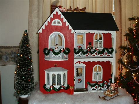 doll house christmas christmas dollhouse christmas decore