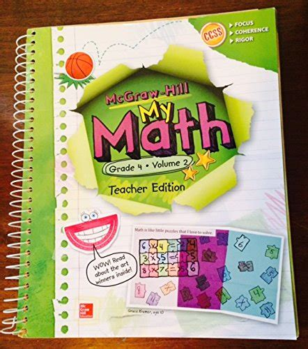 Mcgraw Hill My Math Grade 4 Volume 2 Teacher Edition