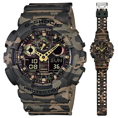 Casio Army casio g shock ga 100cm 5a analog digital army