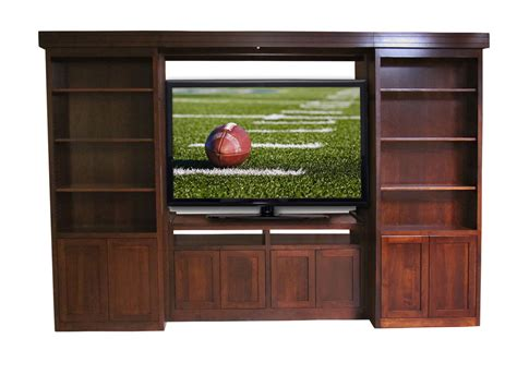 Wood Tv Shelf by Custom Built Solid Wood Tv Entertainment Center Library