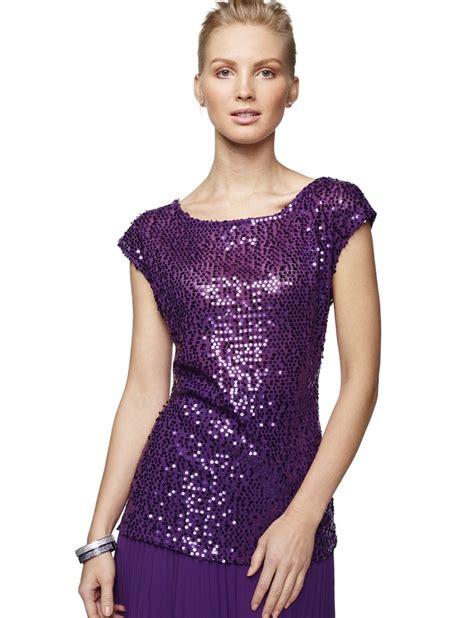 Top Purple purple sequin top my style