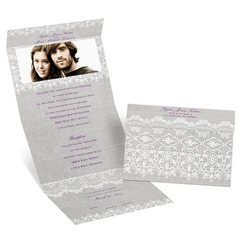 rustic send and seal wedding invitations rustic lace seal and send invitation s bridal bargains