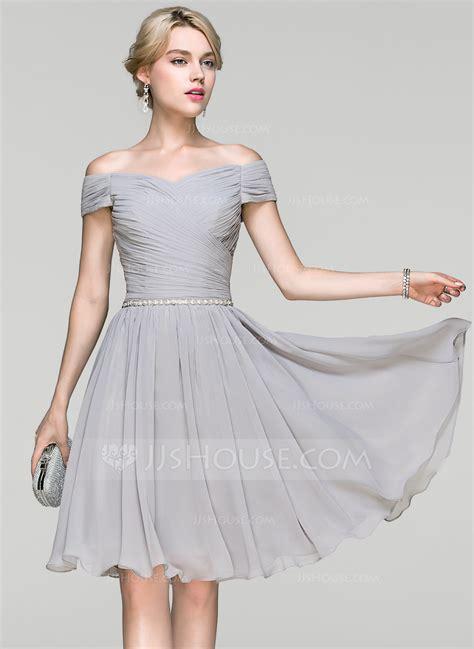 Shoulder Chiffon Dress a line princess the shoulder knee length chiffon