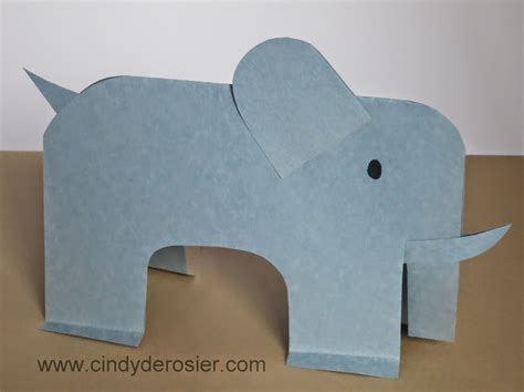 Elephant Papercraft - paper elephant family crafts