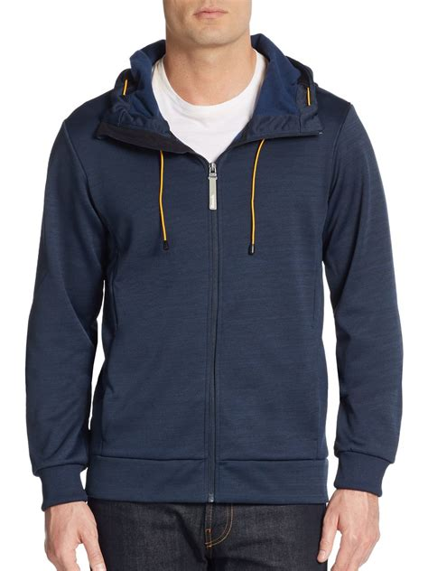 bench hoodie bench attrition hoodie in blue for men lyst