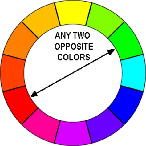 opposite colours color schemes