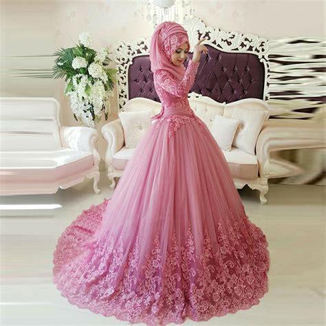 Henna Marun Dress Lace Gaun Pesta Manusia muslim wedding dress with 2016 arabic lace appliqued bridal gowns gown turkish