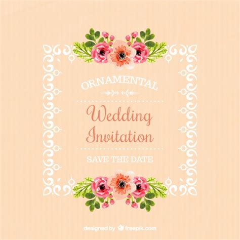 Wedding Invitation Frame by Wedding Invitation Of Frame With Floral Details Vector