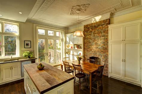 kitchen fireplace houzz park slope brownstone traditional kitchen new york