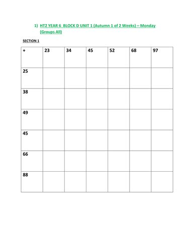 year 5 maths numeracy planning and worksheets by