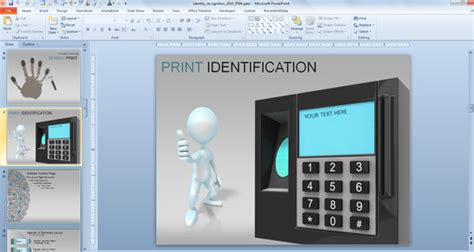 Awesome Identity Recognition Cybercrime Powerpoint Template Cyber Crime Ppt Templates Free