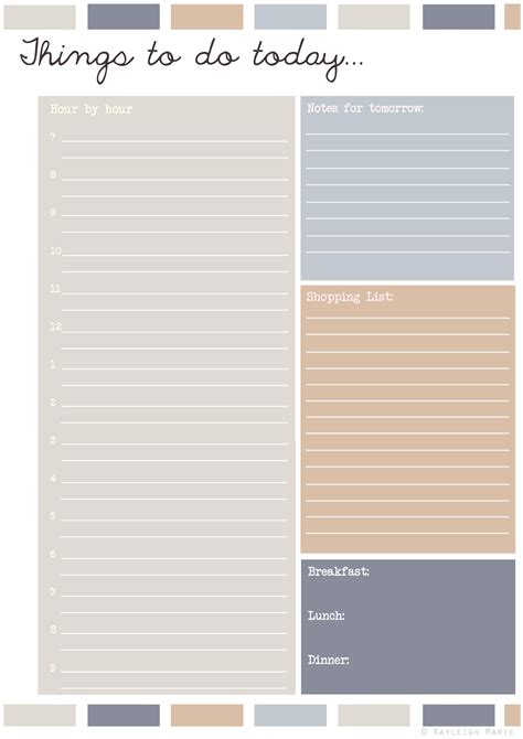 printable planner pdf planners kayleigh s crafty creations