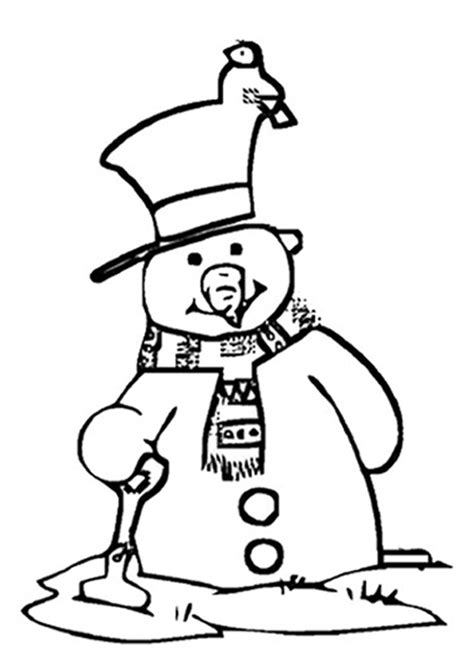melting snowman coloring page picture of a snowman cliparts co