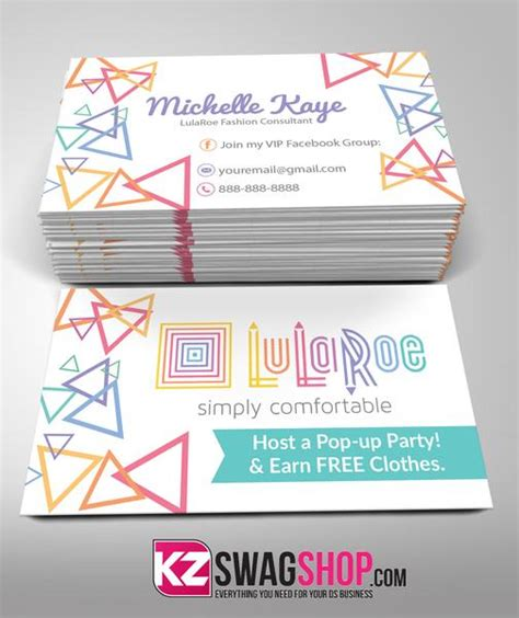 Partylite Business Card Template by Lularoe Business Cards Style 4 Kz Swag Shop