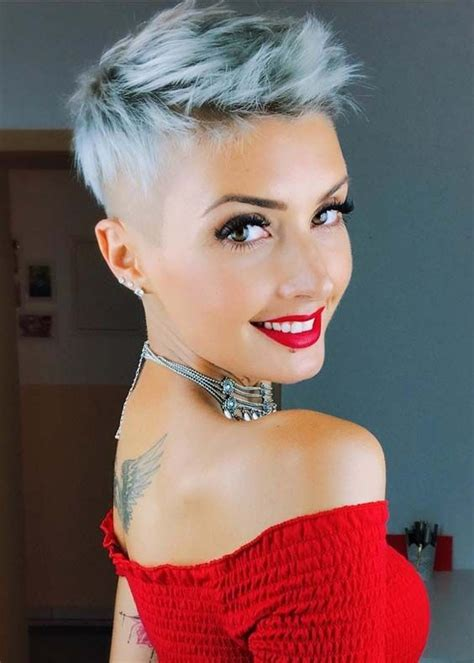 up to date cute haircuts for woman 45 and over 45 elegant short pixie haircuts 2018 for women blonde