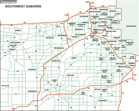 map of chicago suburbs chicago western suburbs illinois map motorcycle review and galleries