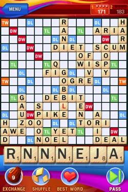scrabble for iphone free minireview scrabble for iphone ipod touch ars technica