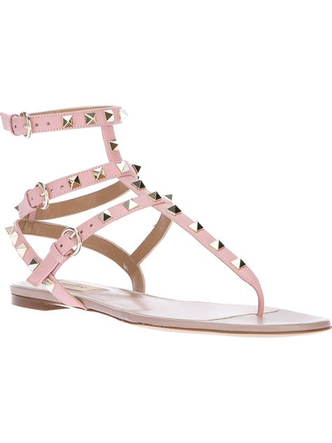 Sandal Studed valentino studded gladiator sandal in pink lyst