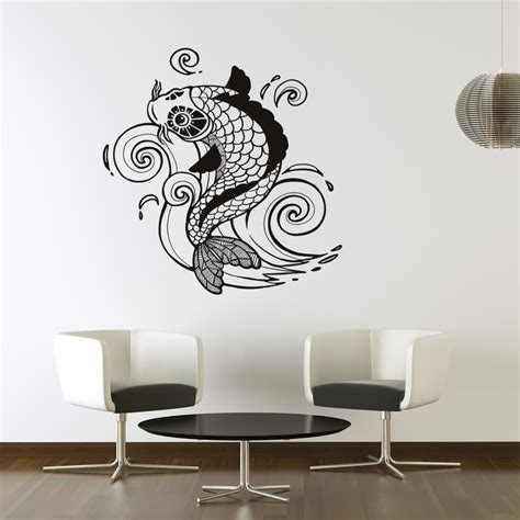 wall stickers fish koi carp detailed fish wall decal wall stickers transfers ebay