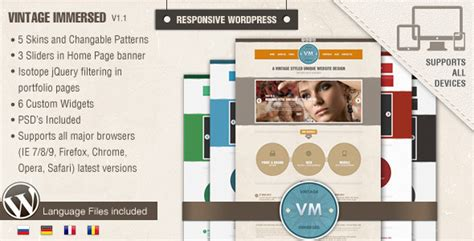themeforest veda vintage responsive wordpress theme on behance