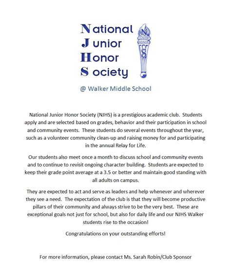 National Junior Honor Society Essays by Walker National Junior Honor Society Walker Ms