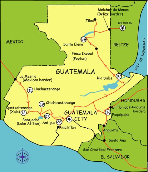 guatemala maps maps update 13361199 tourist attractions map in