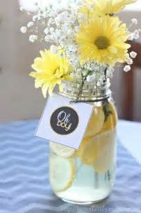 baby shower centerpiece ideas gray yellow baby shower decorating ideas of