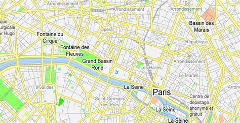 printable paris road map paris grande map france printable vector map adobe