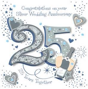 handmade silver 25th wedding anniversary greeting card anniversary wedding