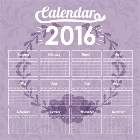 design wall calendar 2016 simple wall calendar 2016 design vectors set 15 vector