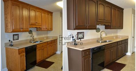 Walnut Finish Kitchen Cabinets by Oak Cabinet Makeover With General Finishes Antique Walnut